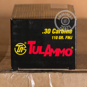 Photo of .30 Carbine FMJ ammo by Tula Cartridge Works for sale.