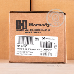 Image of 6.5MM CREEDMOOR HORNADY OUTFITTER 120 GRAIN GMX (20 ROUNDS)