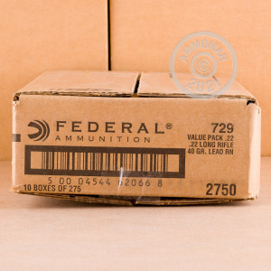 .22 Long Rifle ammo with Lead Round Nose (LRN) bullets for sale at AmmoMan.com.