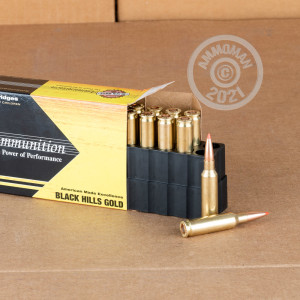 A photo of a box of Black Hills Ammunition ammo in 6.5MM CREEDMOOR.