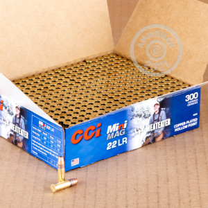 Image of bulk .22 Long Rifle ammo by CCI that's ideal for hunting varmint sized game, training at the range.