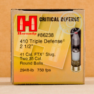 ammo made by Hornady with a 2-1/2