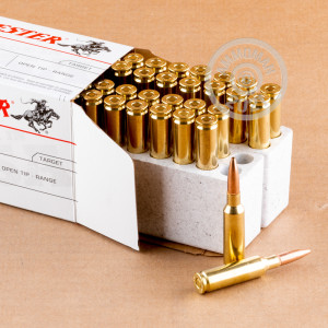 Photo detailing the 6.5 CREEDMOOR WINCHESTER USA 125 GRAIN OT (200 ROUNDS) for sale at AmmoMan.com.