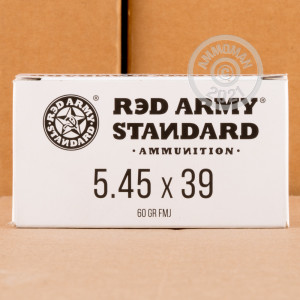An image of 5.45 x 39 Russian ammo made by Red Army Standard at AmmoMan.com.