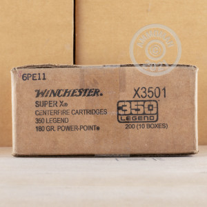 Photo detailing the 350 LEGEND WINCHESTER SUPER-X 180 GRAIN POWER POINT (200 ROUNDS) for sale at AmmoMan.com.
