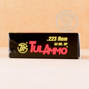 Photo detailing the 223 REMINGTON TULA 62 GRAIN HP (500 ROUNDS) for sale at AmmoMan.com.