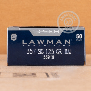 An image of 357 SIG ammo made by Speer at AmmoMan.com.