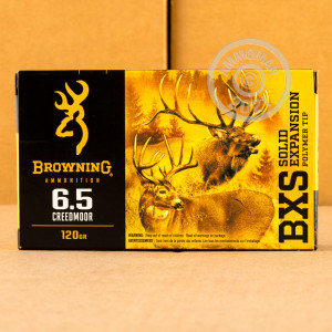 An image of 6.5MM CREEDMOOR ammo made by Browning at AmmoMan.com.