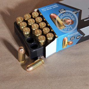 Photo of .45 Automatic FMJ ammo by Aguila for sale at AmmoMan.com.