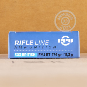 Image of 303 British ammo by Prvi Partizan that's ideal for training at the range.