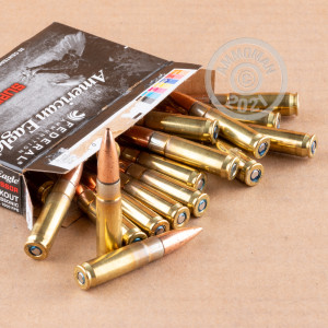 Photo detailing the 300 AAC BLACKOUT FEDERAL AMERICAN EAGLE 220 GRAIN OTM SUBSONIC (500 ROUNDS) for sale at AmmoMan.com.
