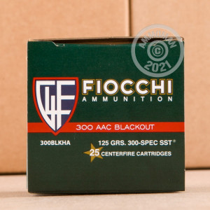 Photo detailing the 300 AAC BLACKOUT FIOCCHI EXTREMA 125 GRAIN SST (500 ROUNDS) for sale at AmmoMan.com.