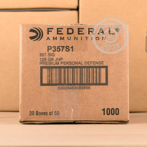 Image of 357 SIG ammo by Federal that's ideal for home protection.