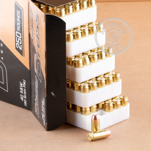 An image of .40 Smith & Wesson ammo made by Blazer Brass at AmmoMan.com.