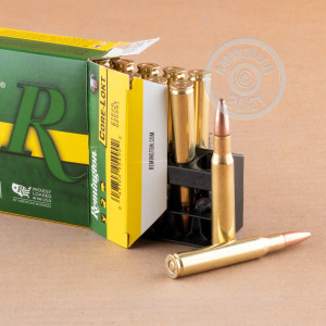 A photograph of 200 rounds of 180 grain 30.06 Springfield ammo with a Pointed Soft-Point (PSP) bullet for sale.