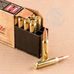 Image of the 7MM-08 HORNADY CUSTOM LITE 120 GRAIN JHP (20 ROUNDS) available at AmmoMan.com.