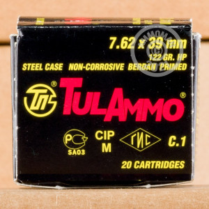 Photo of 7.62 x 39 HP ammo by Tula Cartridge Works for sale.