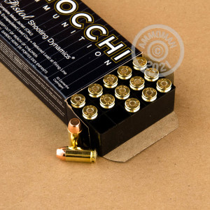 A photo of a box of Fiocchi ammo in .40 Smith & Wesson.