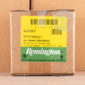 A photo of a box of Remington ammo in 38 Special.