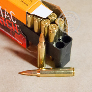 Photo detailing the 223 REMINGTON PMC SIERRA X-TAC MATCH 77 GRAIN OTM (800 ROUNDS) for sale at AmmoMan.com.