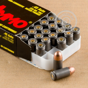 A photo of a box of Tula Cartridge Works ammo in .45 Automatic.