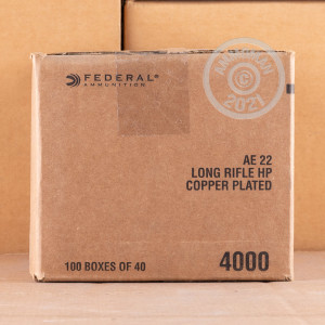 .22 Long Rifle ammo for sale at AmmoMan.com - 400 rounds.