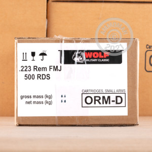 Image of 223 REMINGTON WOLF MILITARY CLASSIC SPAM CAN 55 GRAIN FMJ (500 ROUNDS)
