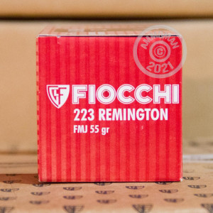 Photo detailing the 223 REMINGTON FIOCCHI 55 GRAIN FULL METAL JACKET (50 ROUNDS) for sale at AmmoMan.com.
