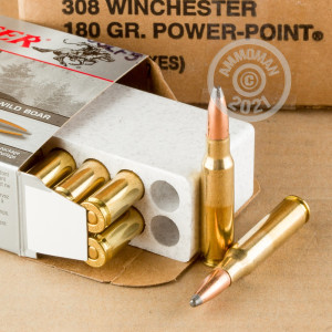 An image of 308 / 7.62x51 ammo made by Winchester at AmmoMan.com.