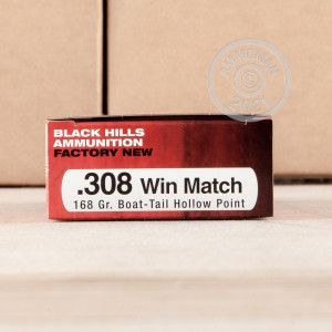 Photo of 308 / 7.62x51 Hollow-Point Boat Tail (HP-BT) ammo by Black Hills Ammunition for sale.
