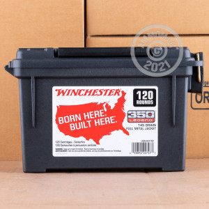 Image of the 350 LEGEND WINCHESTER USA 145 GRAIN FMJ (120 ROUNDS IN FIELD BOX) available at AmmoMan.com.