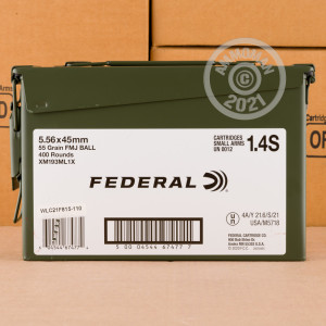 Photo of 5.56x45mm FMJ ammo by Federal for sale.