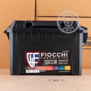 Photograph detailing the 1 ounce shotgun ammo for 12 Gauge shooters made by Fiocchi