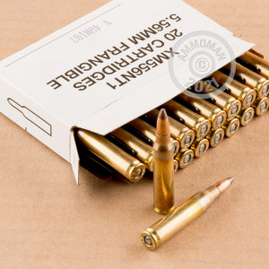 Photograph showing detail of 5.56X45 FEDERAL AMERICAN EAGLE 50 GRAIN SP FRANGIBLE (500 ROUNDS)