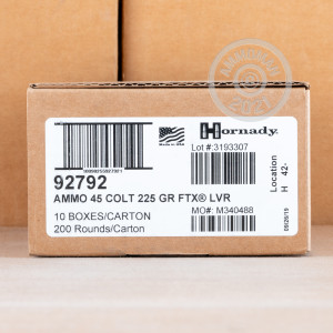 Photo of .45 COLT JHP ammo by Hornady for sale at AmmoMan.com.