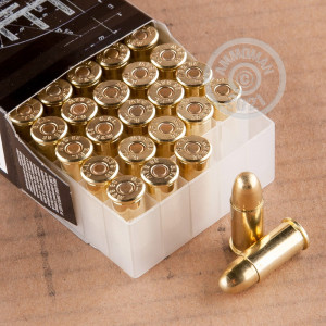 Photo of .38 S/W FMJ ammo by Fiocchi for sale at AmmoMan.com.
