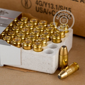 Image of 9mm Luger ammo by Winchester that's ideal for shooting indoors, training at the range.
