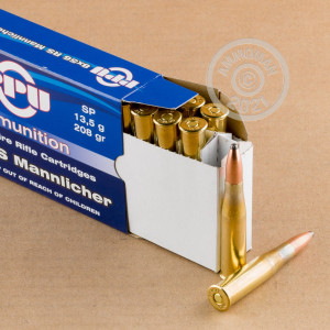 A photo of a box of Prvi Partizan ammo in 8x56 RS.