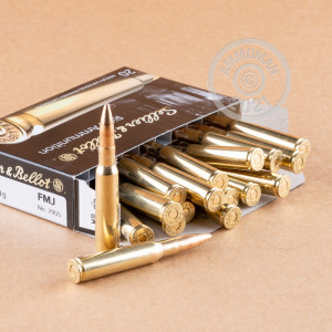 Photo detailing the 7X57MM MAUSER SELLIER & BELLOT 140 GRAIN FMJ (20 ROUNDS) for sale at AmmoMan.com.