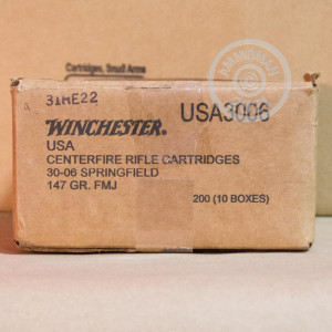 Image of 30.06 Springfield ammo by Winchester that's ideal for training at the range.