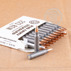 An image of 223 Remington ammo made by Red Army Standard at AmmoMan.com.