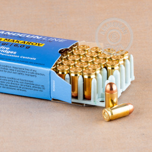 An image of 9x18 Makarov ammo made by Prvi Partizan at AmmoMan.com.