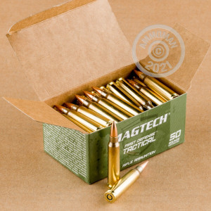 Photo detailing the 5.56X45 MAGTECH 62 GRAIN FMJ (50 ROUNDS) for sale at AmmoMan.com.