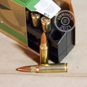 Image detailing the brass case on the Remington ammunition.