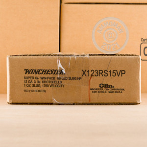 Photo showing 150 rounds of 12 Gauge ammo made by Winchester.