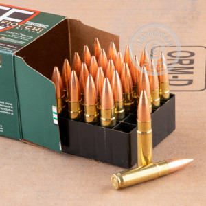 Photo detailing the 300 AAC BLACKOUT FIOCCHI 220 GRAIN HPBT MATCHKING (500 ROUNDS) for sale at AmmoMan.com.