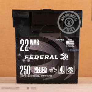Photograph of .22 WMR ammo with FMJ ideal for training at the range.