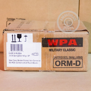Photo of 30.06 Springfield soft point ammo by Wolf for sale.