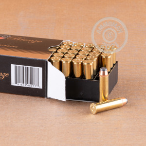 Image of 357 Magnum ammo by PMC that's ideal for home protection, hunting wild pigs, whitetail hunting.