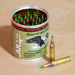 Photograph showing detail of 5.56 NATO FEDERAL FRESH FIRE LAKE CITY M855 BALL 62 GRAIN FMJ (600 ROUNDS)